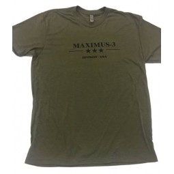 Tri-Blend Maximus-3 Logo T-Shirt, Military Green